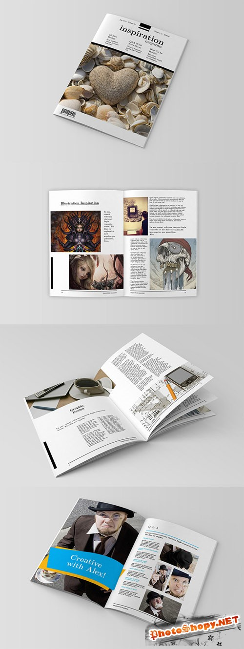 InDesign Magazine Template - Inspiration Magz