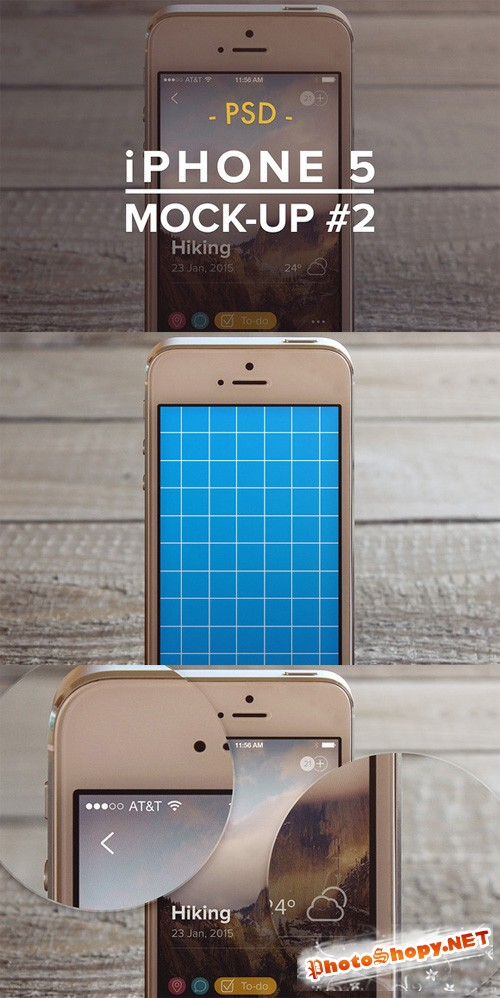 Mockup Template - iPhone 5 PSD vol 2