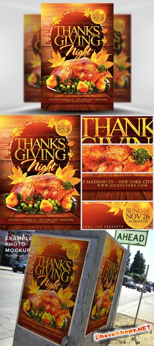 Thanksgiving Night Flyer Template