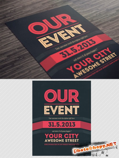 Creativemarket - Our Event Flyer PSD Template 6117