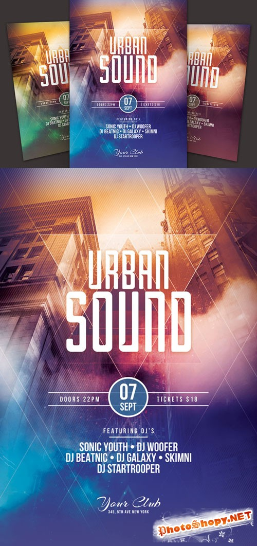 Creativemarket - Urban Sound Flyer 70215