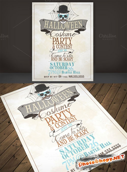 Creativemarket - Halloween Costume Party Flyer 11138