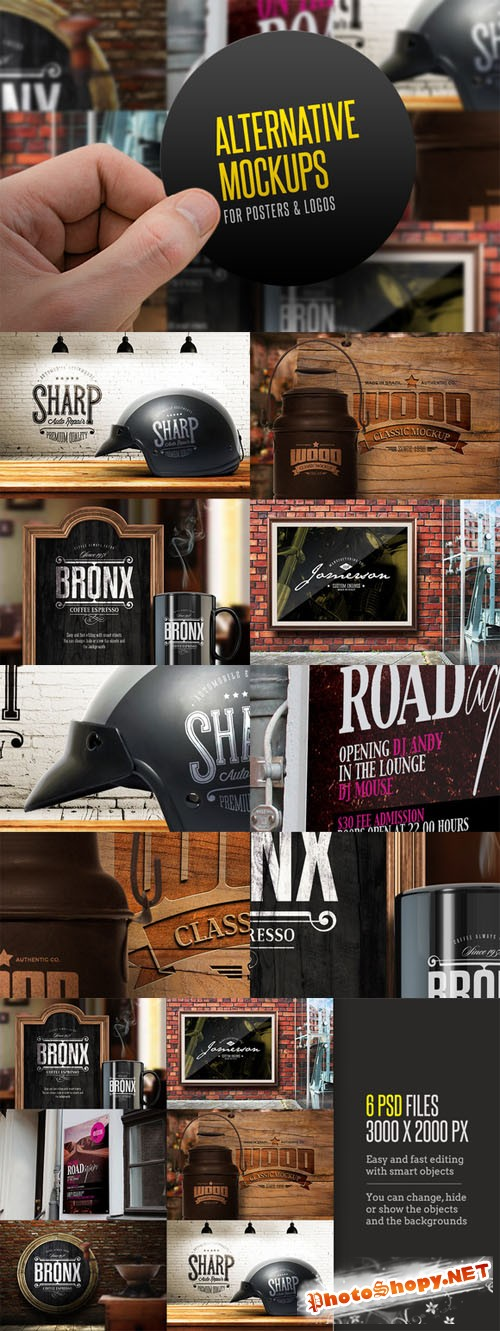 Creativemarket - Alternative Mockups 84588
