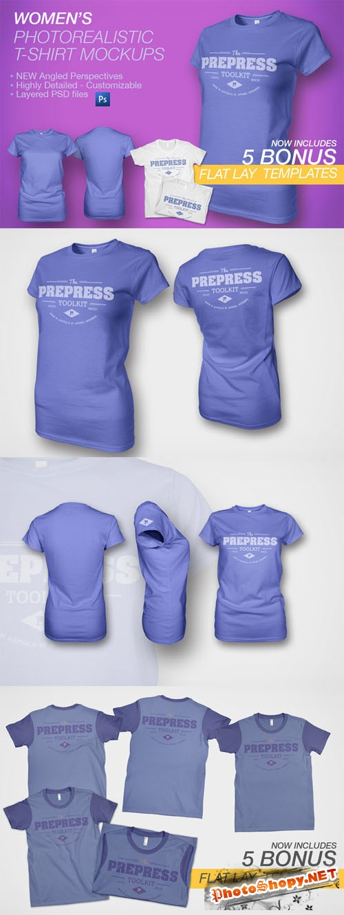 Creativemarket - Women's Ghosted T-Shirt Mockup 19020