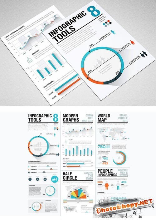 CreativeMarket 89637 - Infographic Tools 8