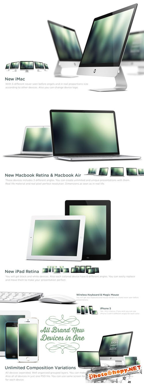 CreativeMarket - New Apple Devices Mock Up