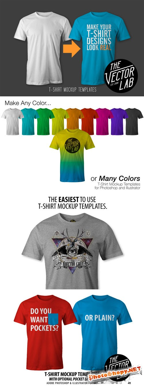 CreativeMarket - T-Shirt Templates #01