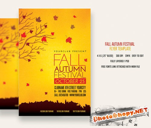 CreativeMarket - Fall Autumn Festival Flyer