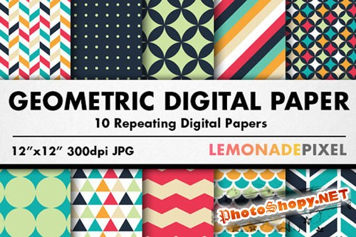 CreativeMarket - Geometric Patterns Digital Paper