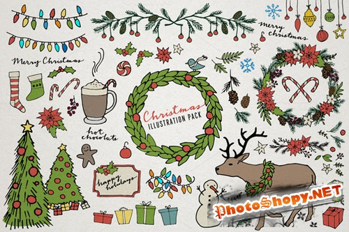 CreativeMarket - Christmas & Holiday Illustrations
