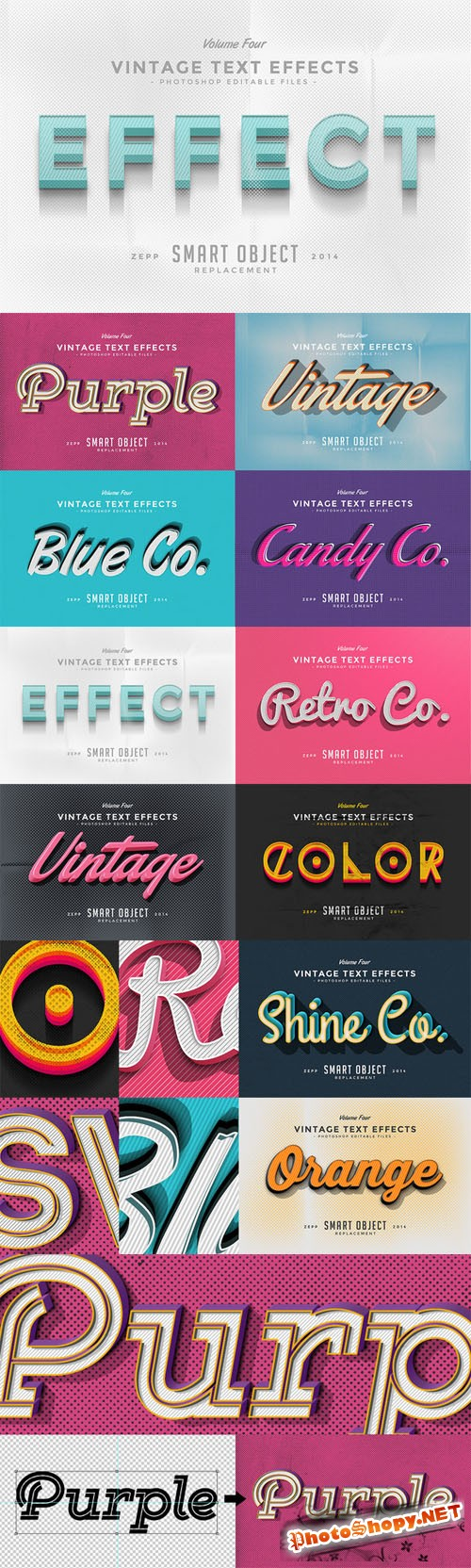 CreativeMarket - Vintage Text Effects Vol.4