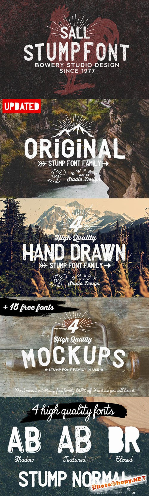 CreativeMarket - Stump Font Family