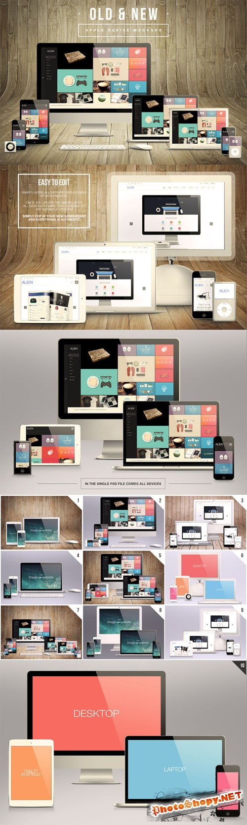 CreativeMarket - Old & New Apple Device Mockups
