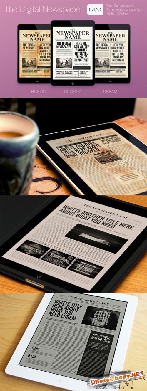 CreativeMarket - The Digital Newspaper