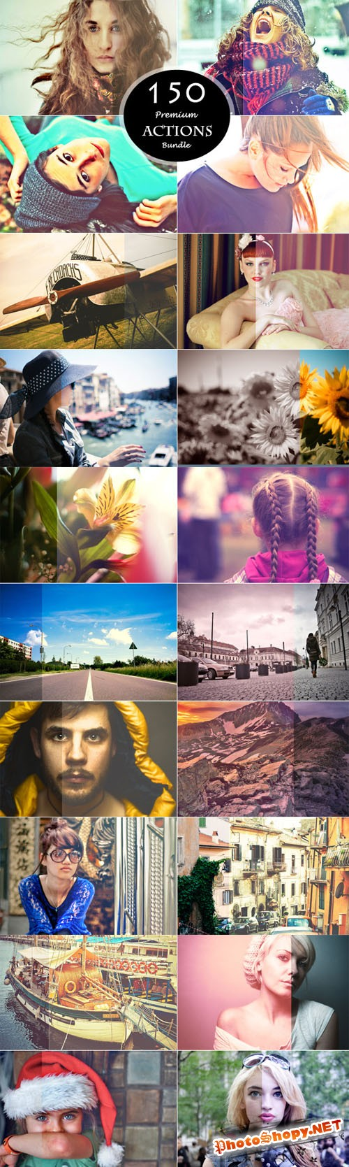 CreativeMarket - 150 Actions Bundle