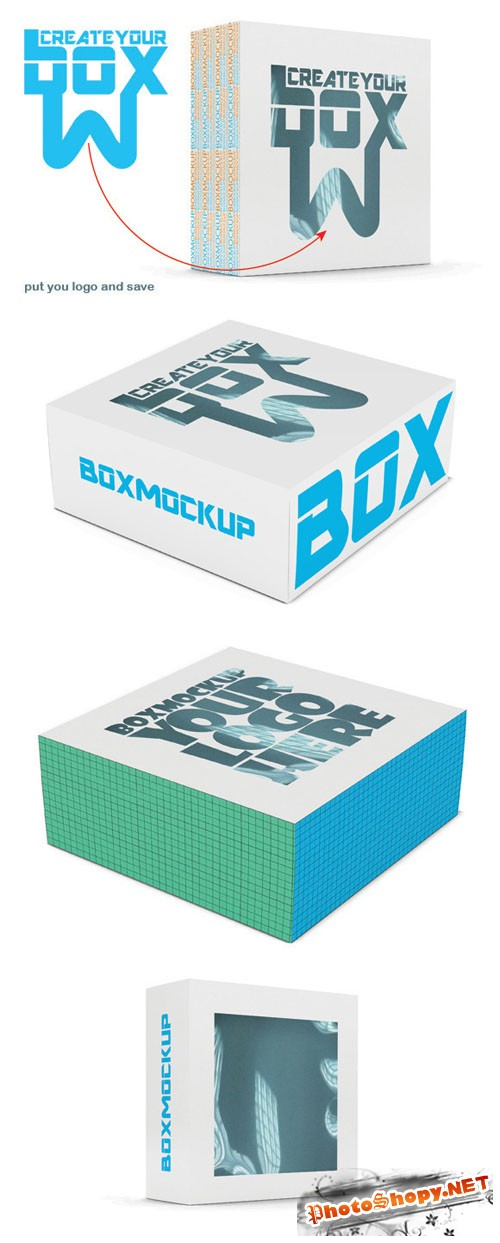 CreativeMarket - Box Mock Up