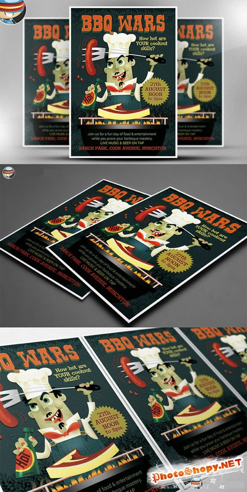 CreativeMarket - BBQ Wars Flyer Template