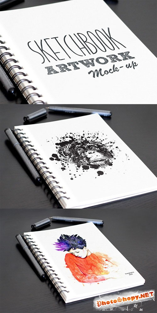 CreativeMarket - Sketchbook Artwork Mockup