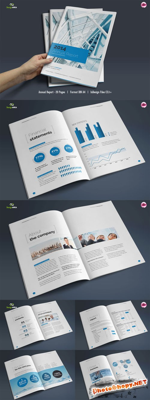 CreativeMarket - 20 Page Annual Report