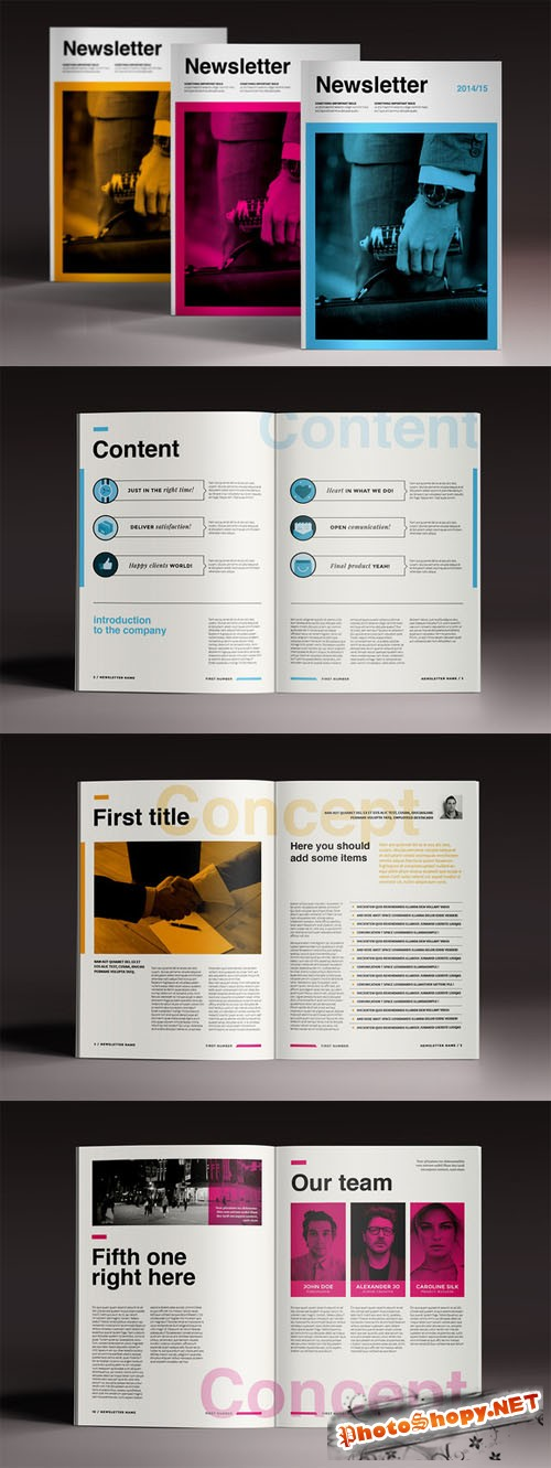 CreativeMarket - Newsletter Brochure