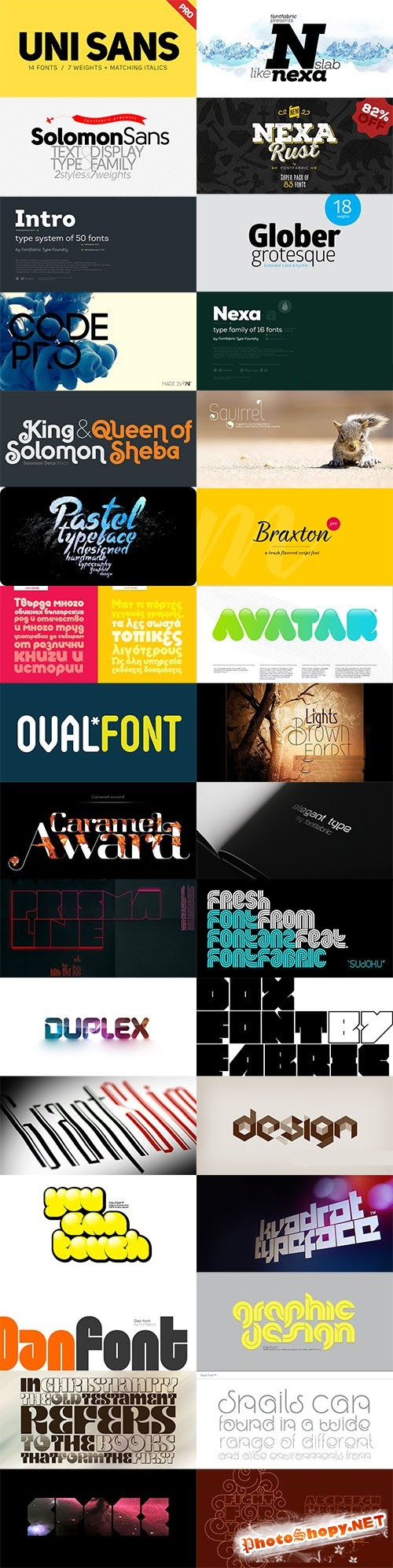 FontFabric Mega Font Family Bundle
