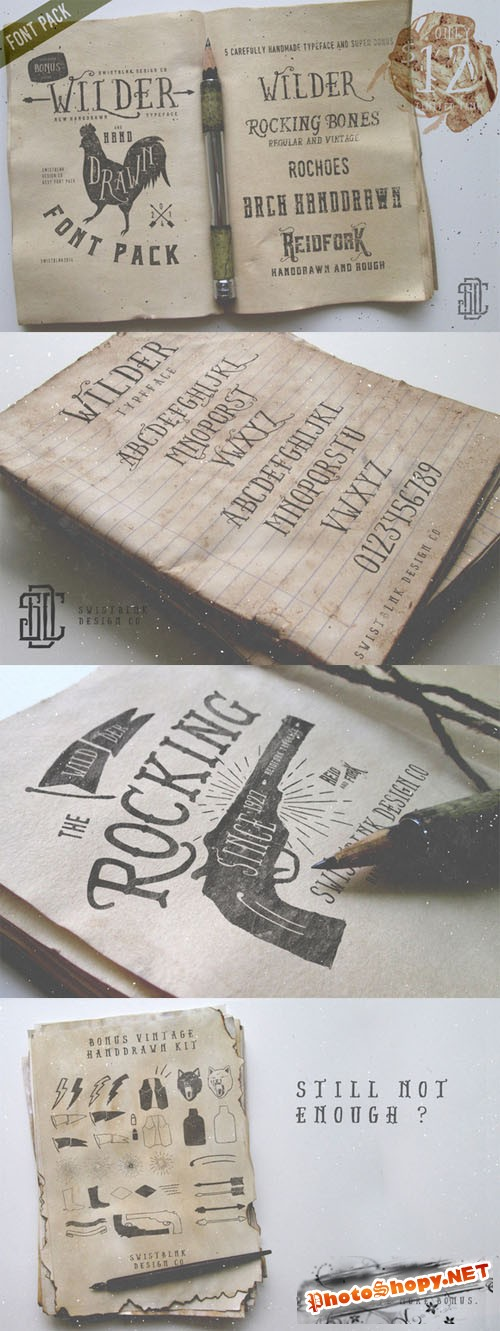 CreativeMarket - Wilder and Handdrawn Font Pack