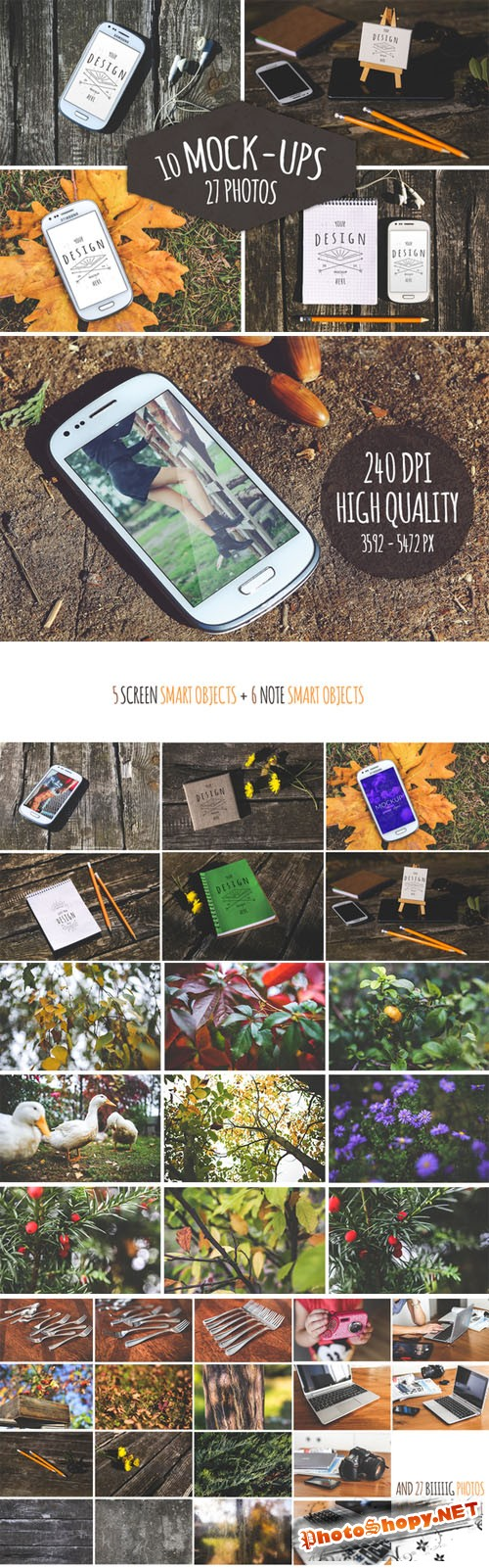 CreativeMarket - 37 Pieces - 10 Mock-Ups & 27 Photos