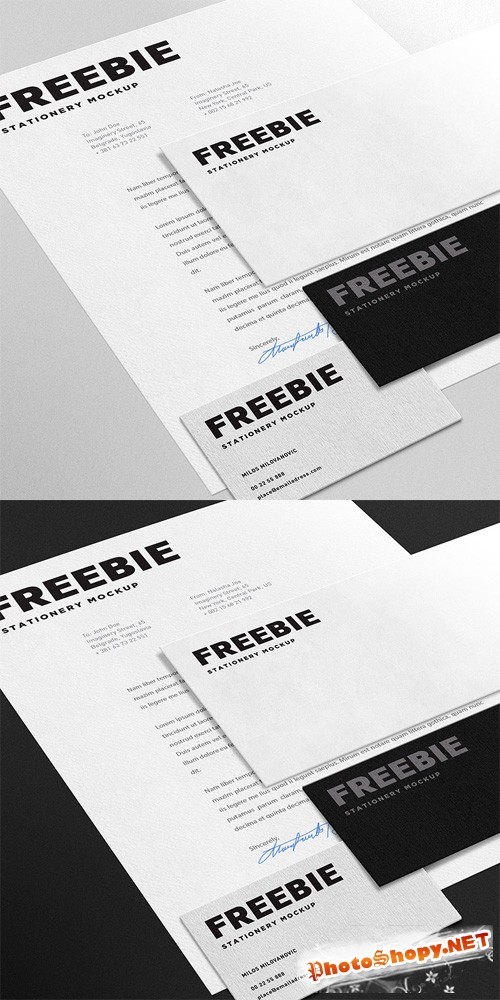Stationary Mock-up PSD Template