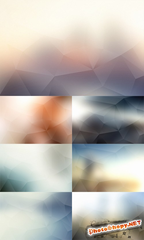 Polygon Backgrounds Set