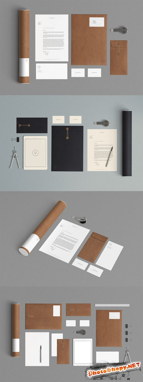 CreativeMarket - 2 Stationery Mock Up - Kraft Paper