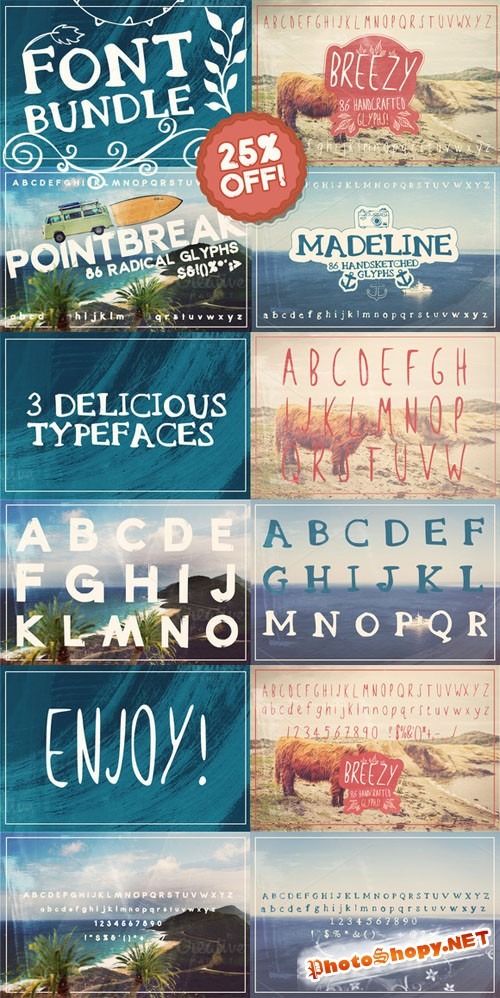 CreativeMarket - Layerform Font Bundle