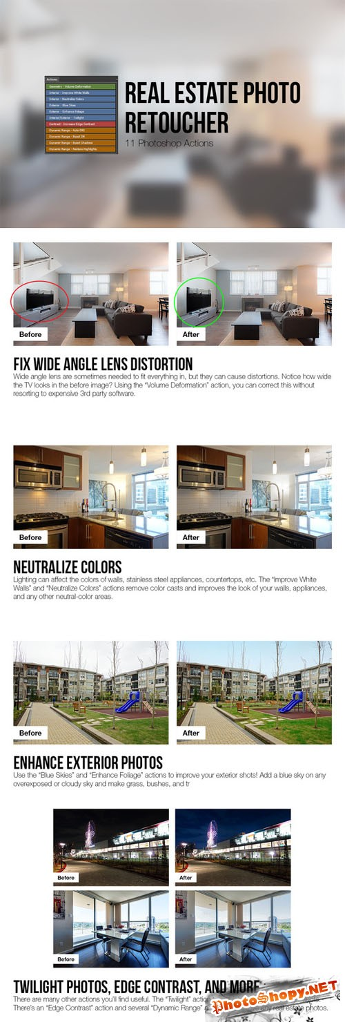 CreativeMarket - Real Estate Photo Retoucher