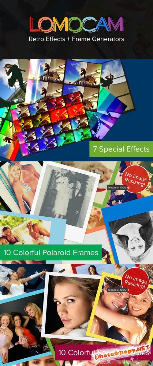 CreativeMarket - Lomocam: 58 RetroFX & Frames Actions