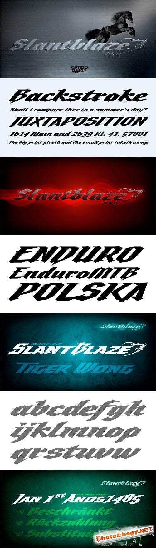 Slantblaze Pro Font Family