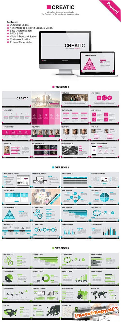 Creatic - Powerpoint Template - CreativeMarket