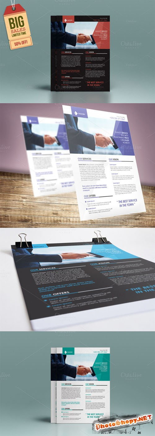 Exclusive Corporate Flyer Template - CreativeMarket