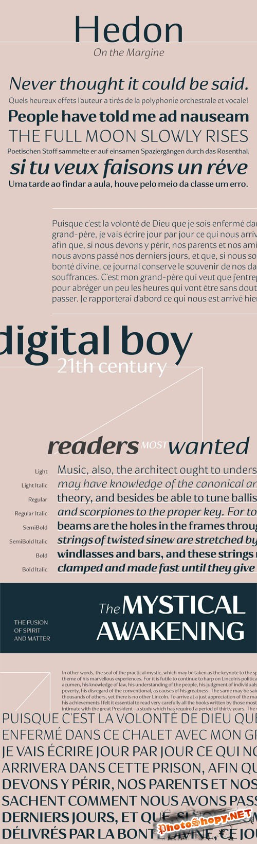 Hedon Font Family