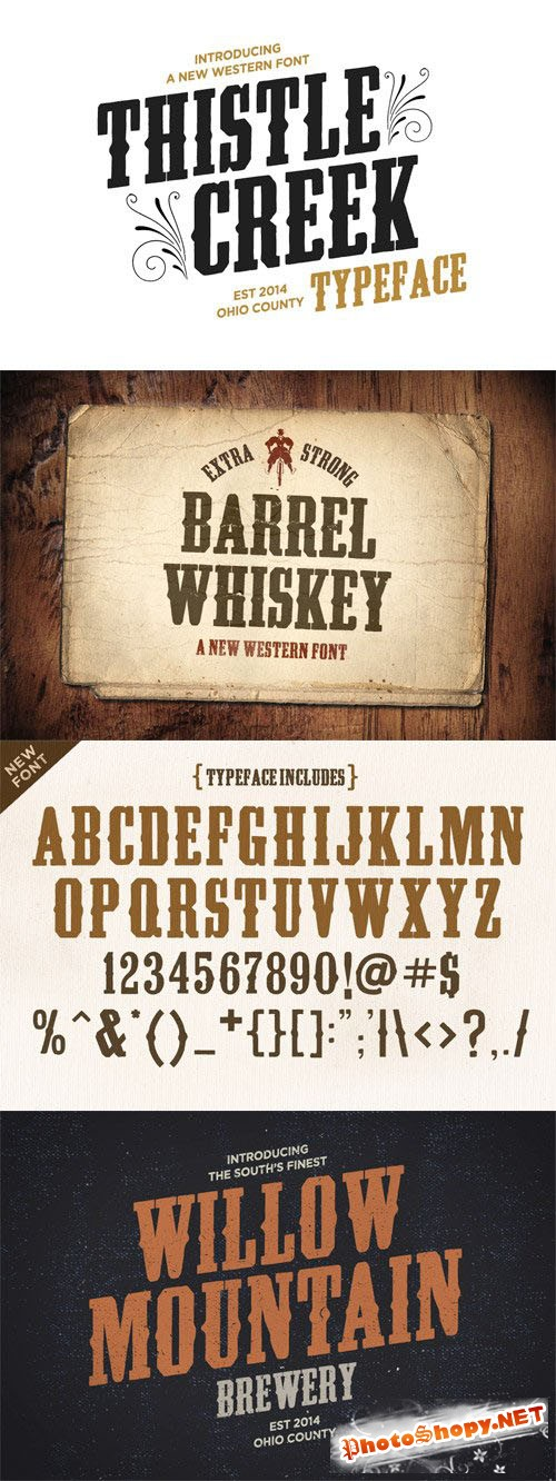 CreativeMarket - Thistle Creek Font Family