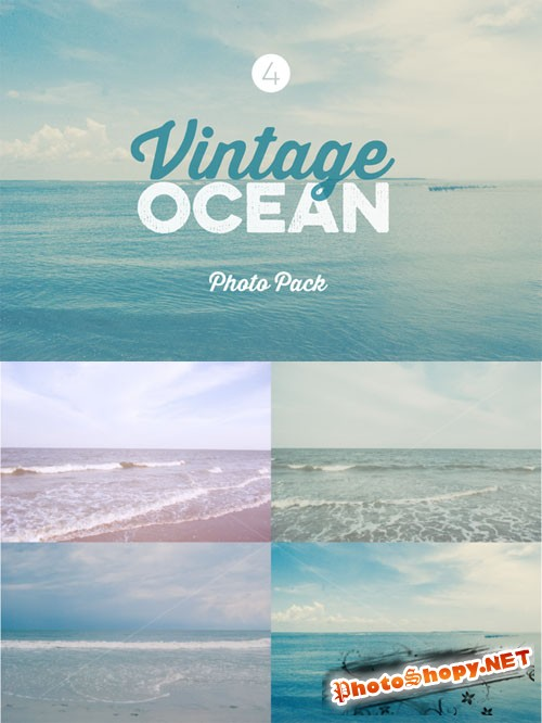 CreativeMarket - Vintage Ocean Photo Pack 62138