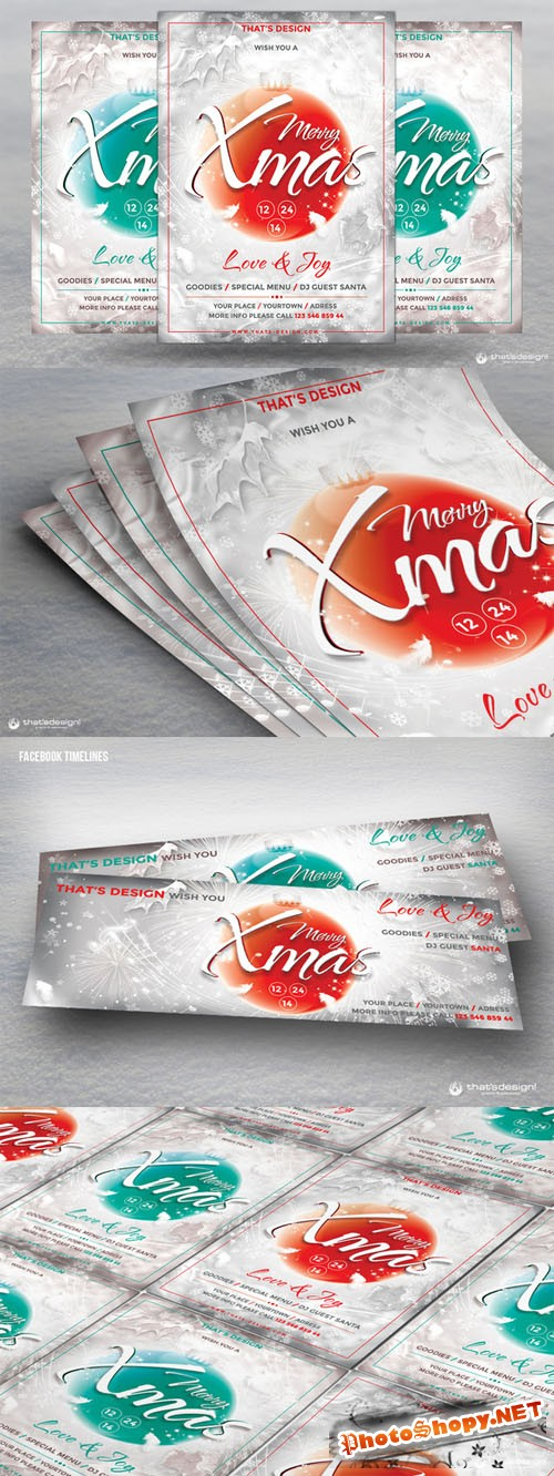 CreativeMarket - Christmas Eve Flyer Template V2
