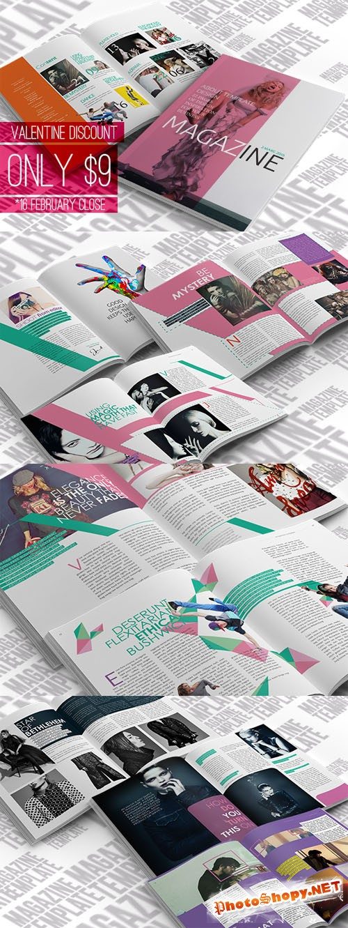 CreativeMarket - InDesign Magazine Template