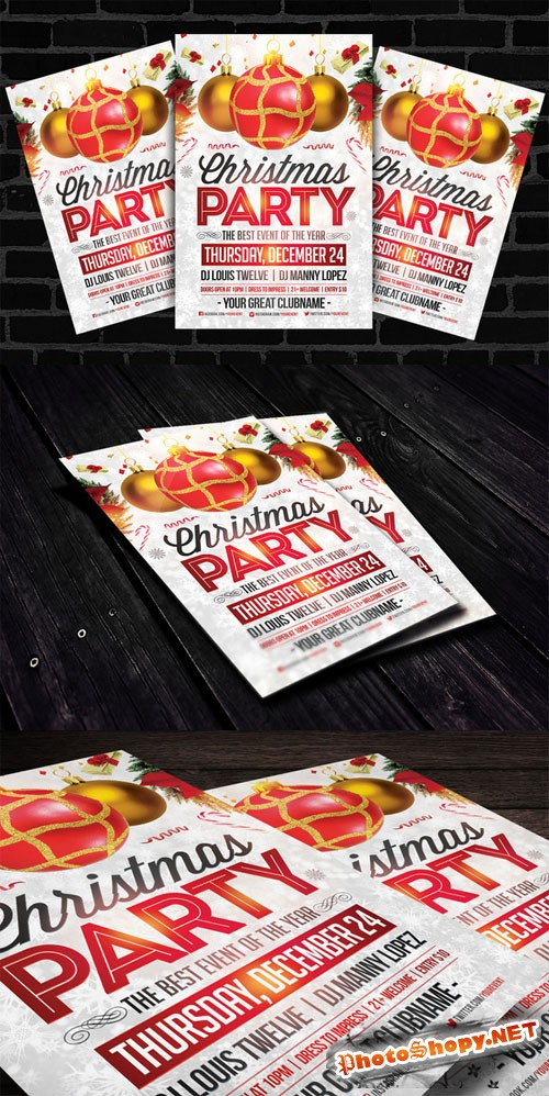 CreativeMarket - Christmas Party | Flyer Template