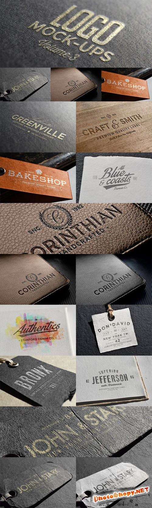 CreativeMarket - Logo Mock-ups Vol.3