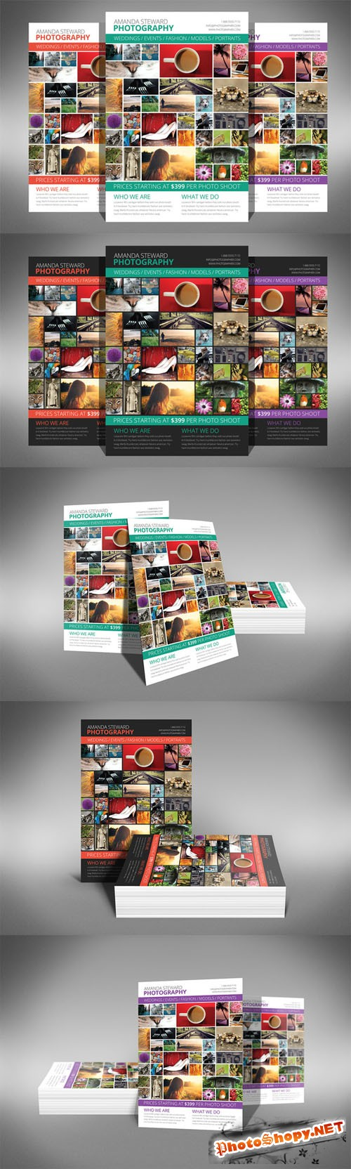 CreativeMarket - Photo Collage Flyer Template