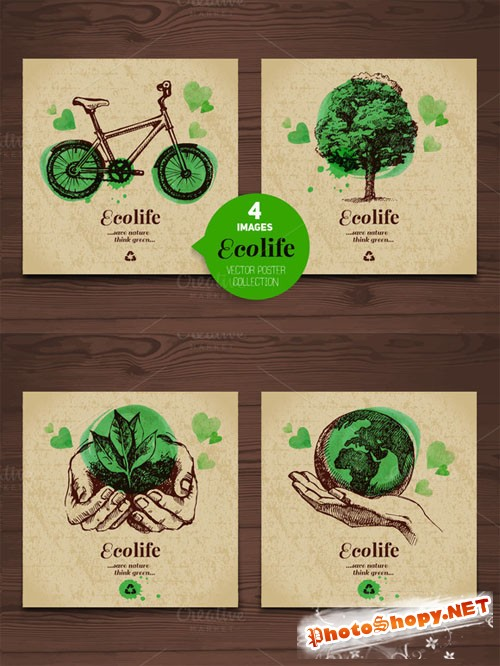 CreativeMarket - Eco Poster Vector Collection