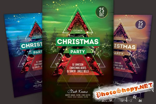CreativeMarket - Christmas Party Flyer