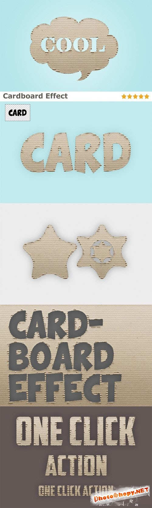 Cardboard Effect Action - CreativeMarket