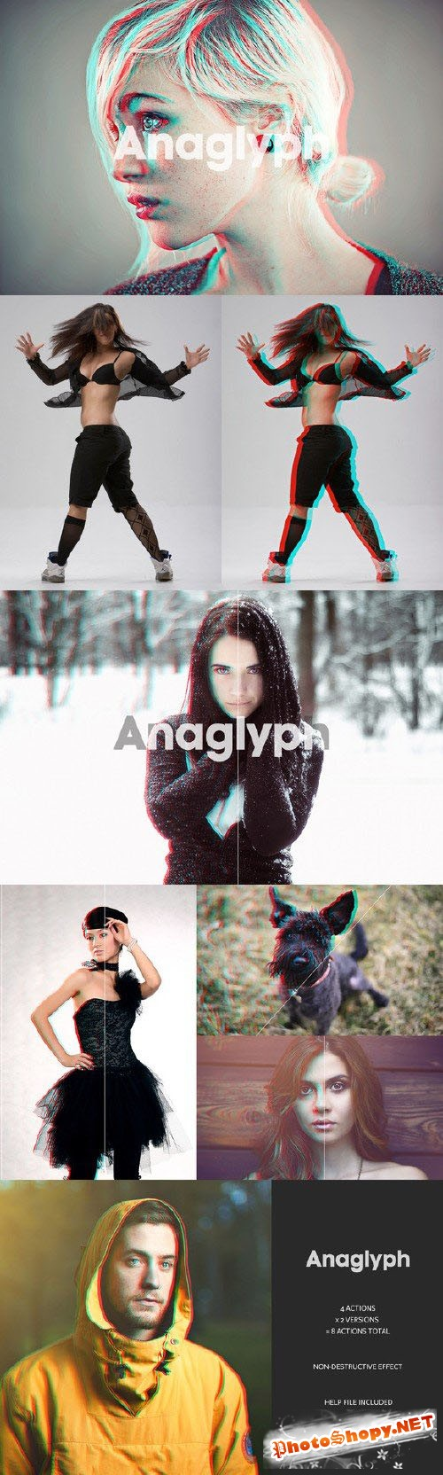 Anaglyph 3D Action - The Original - CreativeMarket
