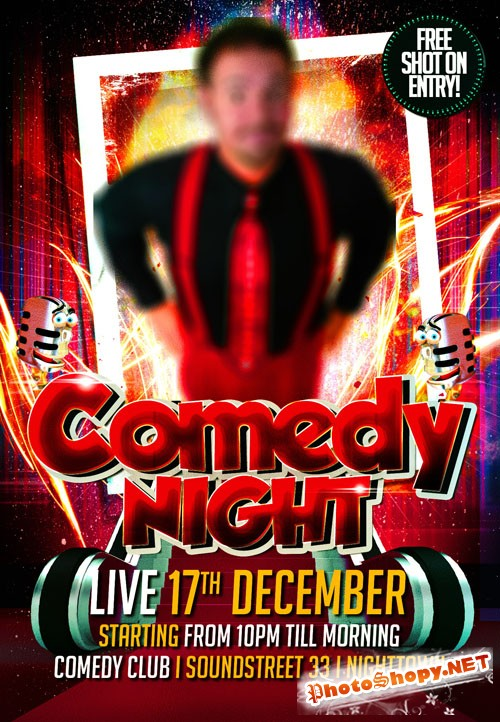 Flyer Template - Comedy Night Party