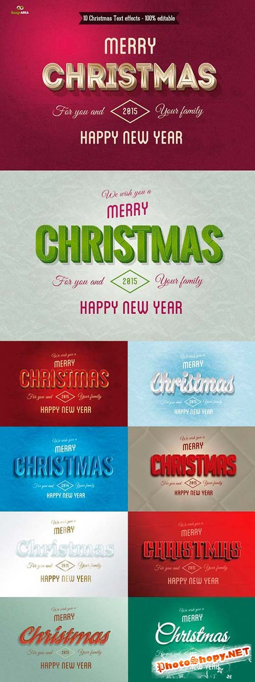 CreativeMarket - Christmas Text Effects